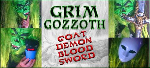 Grim Gozzoth Goat Demon Blood Sword